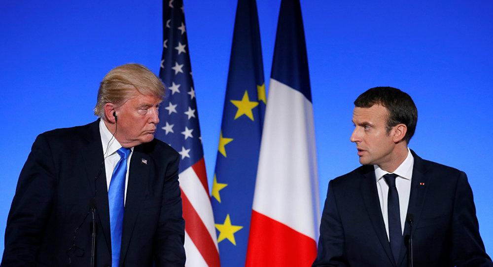 ترامب ينتقد مجددا ماكرون بشأن فكرة إنشاء جيش أوروبي