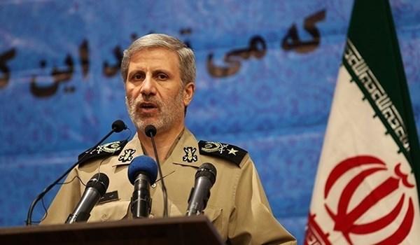 وزیر الدفاع الإيراني: سنرد بقوة علی أی تهدید ضد الملاحة البحریة الایرانیة