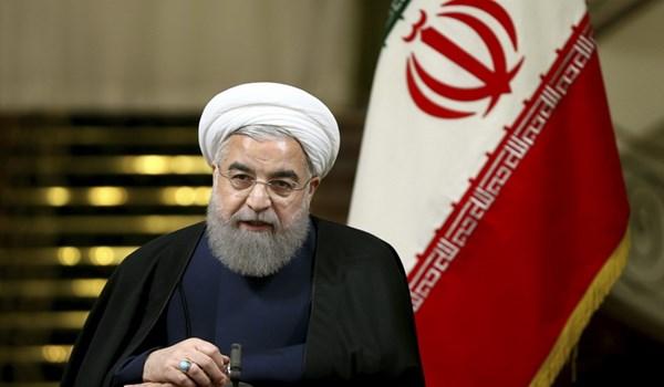 الرئيس روحاني: الأعداء لن ينالوا أهدافهم أبدا