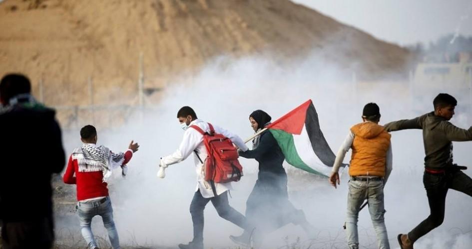 إصابات بين الفلسطينيين باعتداء العدو الاسرائيلي على مسيرة العودة شرق قطاع غزة